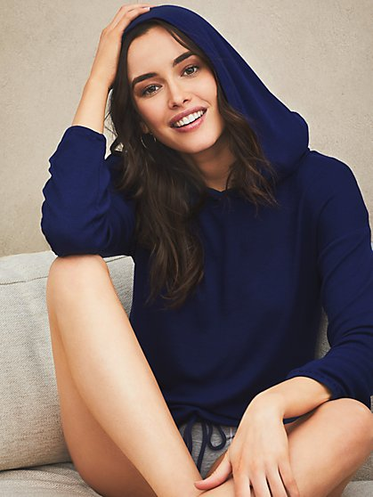 Us-sentials Ribbed Hoodie - New York & Company