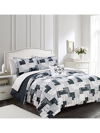 Utopia Reversible Twin-Size 3-Piece Duvet Set - NY&C x Chic Home - New York & Company