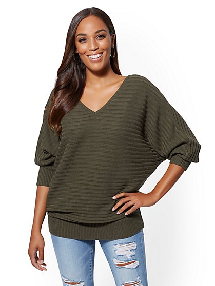 V-Neck Dolman Sweater - New York & Company