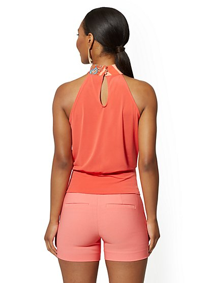 4c9b74732aec ... V-Neck Halter Top - 7th Avenue - New York & Company