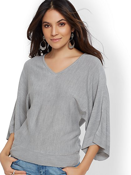 V-Neck Kimono Sweater - New York & Company