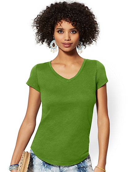 V-Neck Perfect Tee - New York & Company