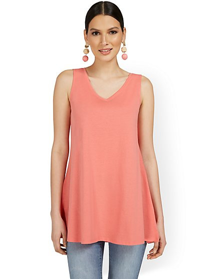 V-Neck Perfect Tunic Tank - New York & Company