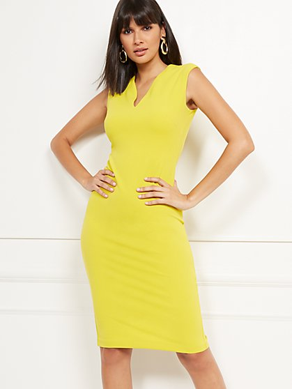 V-Neck Sheath Dress - Magic Crepe® - New York & Company