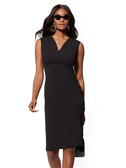 V-Neck Sheath Dress - Magic Crepe - New York & Company