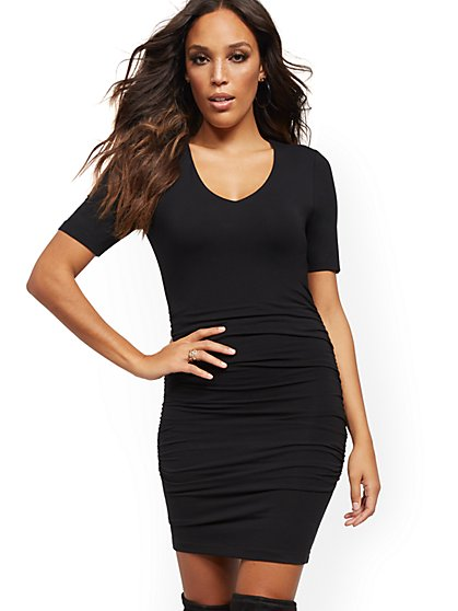 V-Neck Sheath Dress - Soho Street - New York & Company