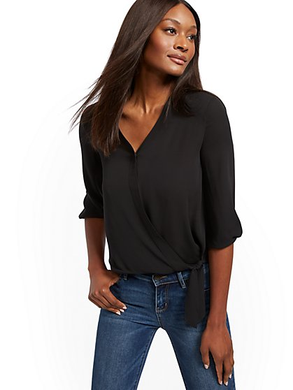 V-Neck Wrap - Soho Soft Shirt - New York & Company