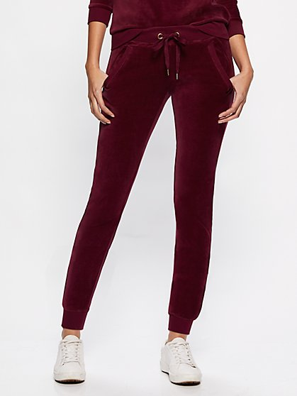 Velour Jogger Pant - New York & Company