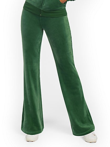 Velour Straight-Leg Pant - Dreamy Velour Collection - New York & Company