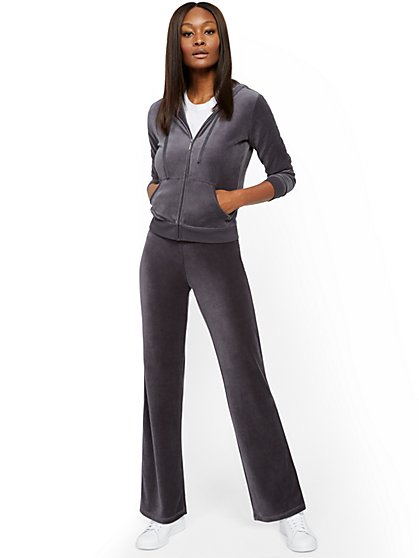 Velour Straight-Leg Pant - New York & Company