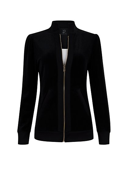 Velour Zip-Front Jacket - New York & Company