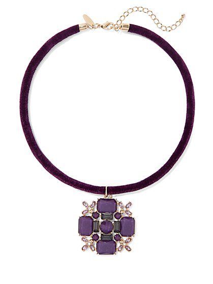 Velvet Collar Pendant Necklace - New York & Company