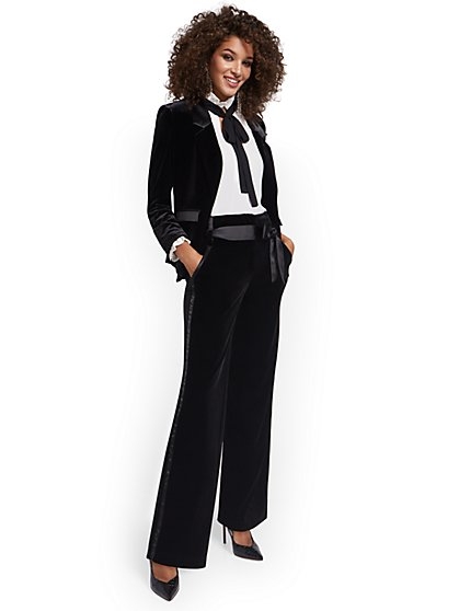 Velvet Tuxedo Pant - 7th Avenue - New York & Company