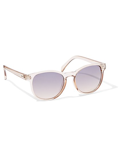 Violet Gradient-Lens Clear Sunglasses - New York & Company