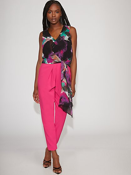 Watercolor Tie-Front Top - Gabrielle Union Collection - New York & Company