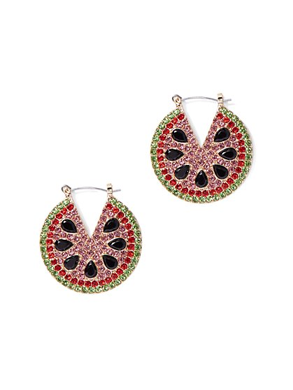 005caa80a Watermelon Hoop Drop Earring - New York & Company