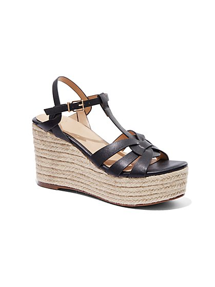Wedge-Heel Espadrille Sandal - New York & Company