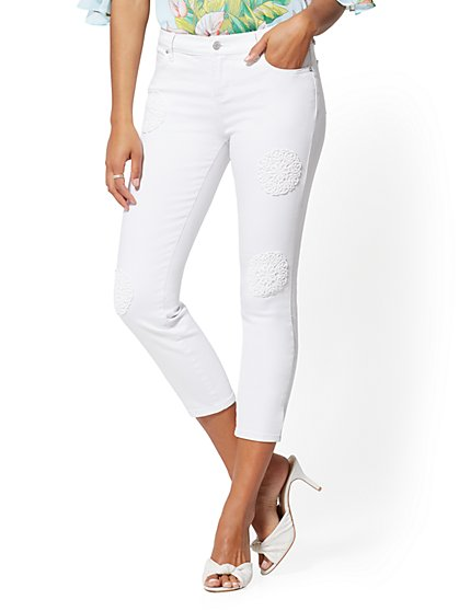 White 25 Inch Crop Legging - NY&C Runway Jeans - Soho Jeans - New York & Company