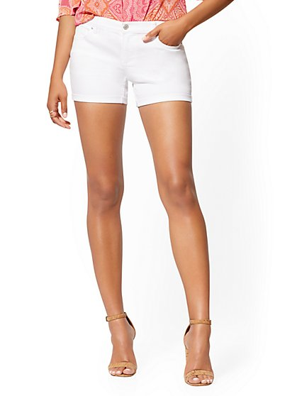 White 4 Inch Short - Soho Jeans - New York & Company