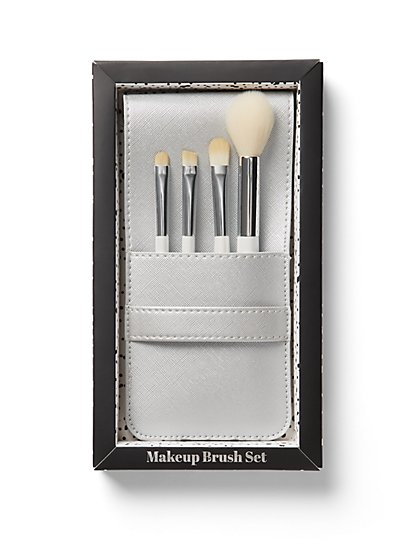 White 4-Piece Brush Set - New York & Company