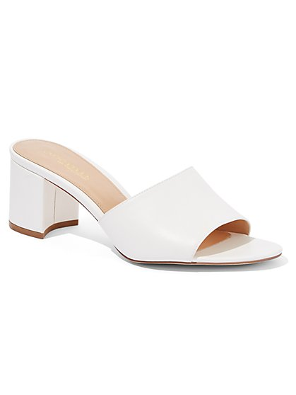 White Block-Heel Sandal - Eva Mendes Collection - New York & Company