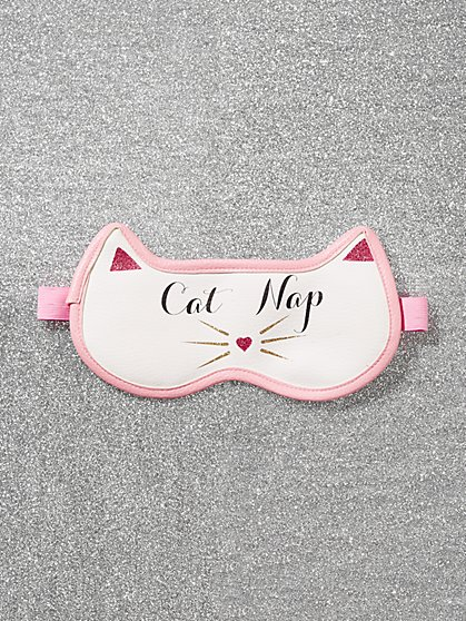 "White ""Cat Nap"" Eye Mask - New York & Company"