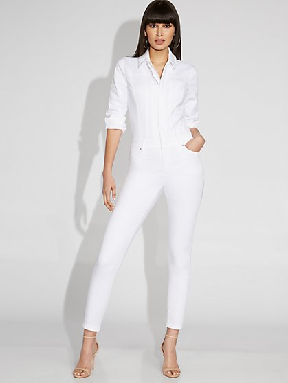 White Denim Jumpsuit - Gabrielle Union Collection - New York & Company
