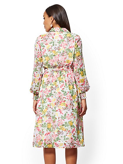 783d8b19dd8 ... White Floral Shirtdress - New York   Company ...