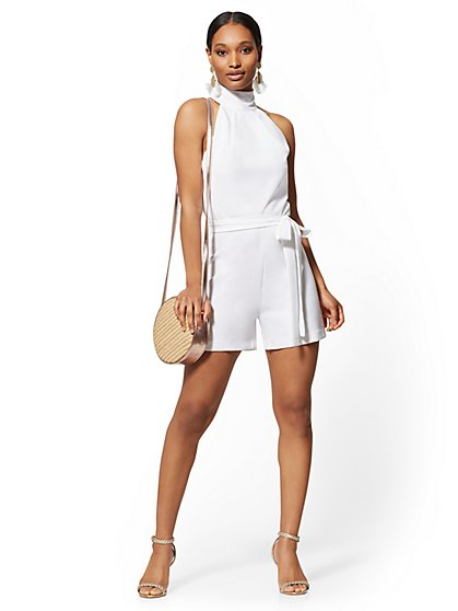 9e94df656f White Halter Romper - New York   Company ...