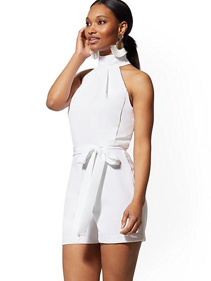White Halter Romper - New York & Company