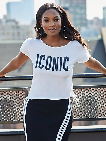 "White ""Iconic"" Tee - Gabrielle Union Collection - New York & Company"