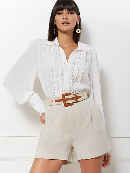 White Kelsey Blouse - Eva Mendes Collection - New York & Company