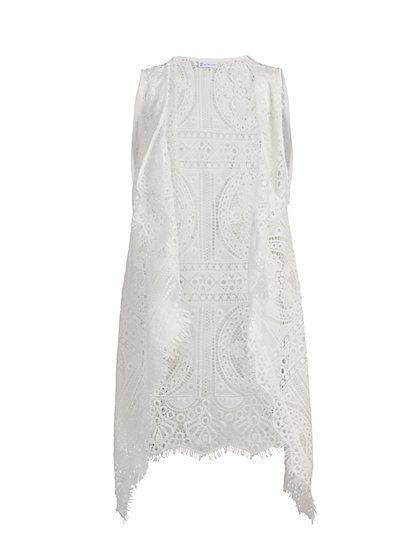 White Lace Vest - New York & Company