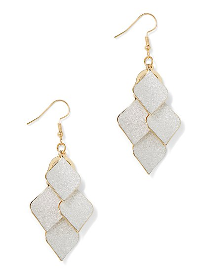 White Leaflet Statement Earring - New York & Company