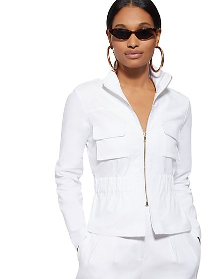 2192402874 White Linen Safari Jacket - 7th Avenue - New York   Company ...