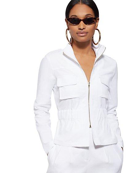 1fc0d785a6581e White Linen Safari Jacket - 7th Avenue - New York   Company ...