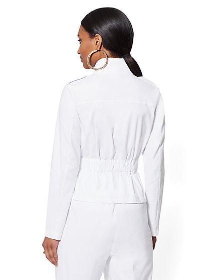 a71b47ca1f ... White Linen Safari Jacket - 7th Avenue - New York   Company