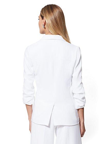 57b4a14f0 ... White Madie Blazer - 7th Avenue - New York & Company