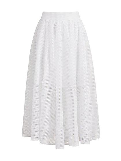 White Midi Skirt - 7th Avenue - New York & Company