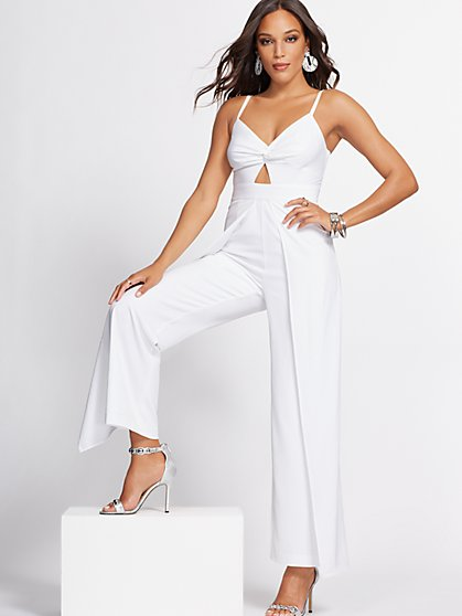 White Overlay Jumpsuit - Gabrielle Union Collection - New York & Company