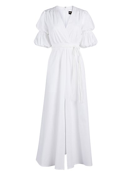 White Puff-Sleeve Maxi Dress - Gabrielle Union Collection - New York & Company