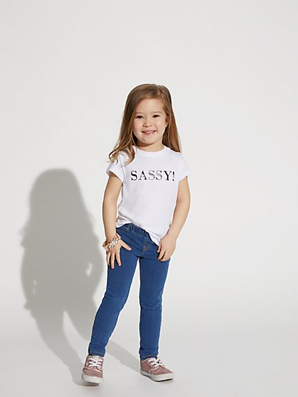 "White ""Sassy"" Graphic Tee - New York & Company"