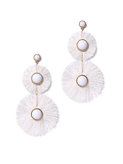 White Statement Drop Earring - New York & Company