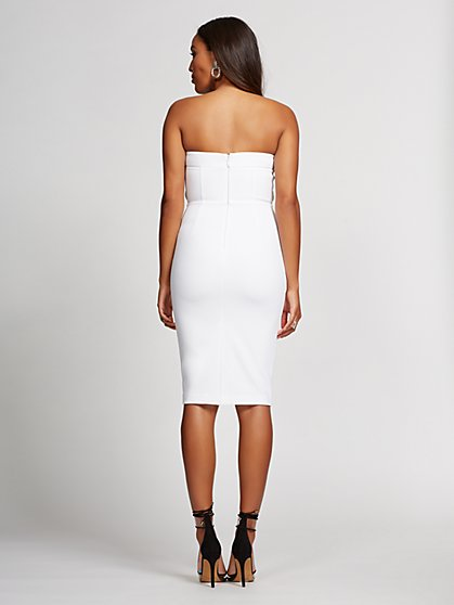 New Year's Eve Dresses White Strapless