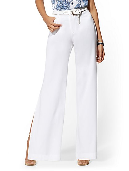White Wide-Leg Pant - Soho Jeans - New York & Company