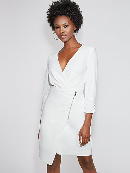 White Wrap Dress - Gabrielle Union Collection - New York & Company