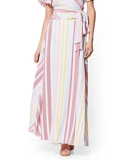7c0e6916 White Wrap Maxi Skirt - New York & Company ...