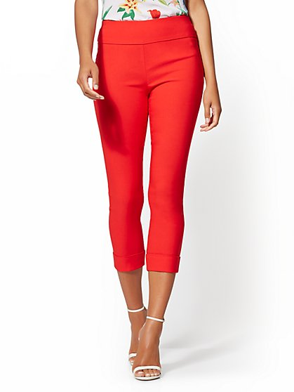 Whitney Crop High-Waist Pull-On Pant - New York & Company