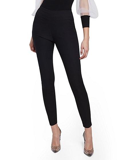 Whitney Curvy High-Waisted Pull-On Ankle Pant - New York & Company