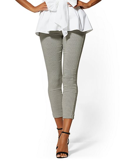 Whitney High-Waist Pull-On Ankle Pant - Graphic Print - New York & Company